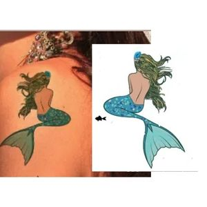 Temporary MERMAID tattoo!!